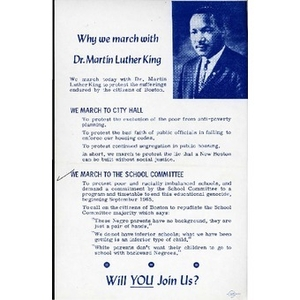 Why we march with Dr. Martin Luther King.