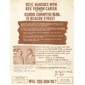 SCLC Marches with Rev. Vernon Carter,