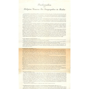 Proclamation on religious concern for desegregation in Boston.
