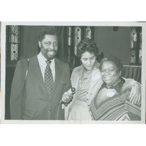 """Jean McGuire and Ruth Batson interviewed for """"Black News."""""""