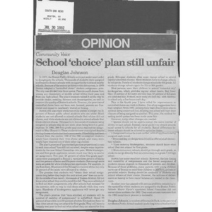 School 'choice' plan still unfair.