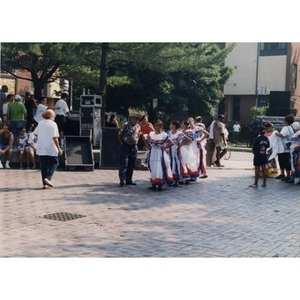 Girls getting to ready to perform a folk dance at Festival Betances.