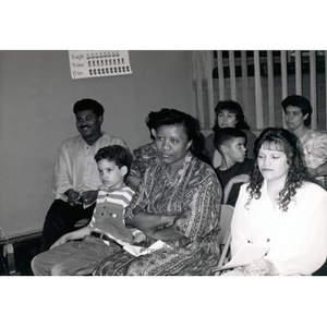 Participants at a child care training celebration.