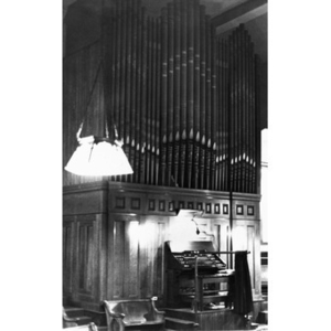 The organ in the All Saints Lutheran Church in Boston's South End.