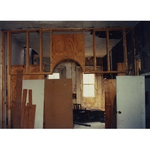 Interior of 326 Shawmut Avenue in the process of being renovated.