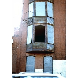 Abandoned brick building in Boston's South End.