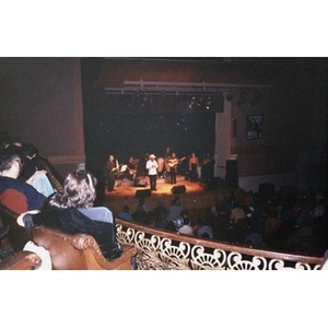 View from the balcony of a musical performance on the stage of the Jorge Hernandez Cultural Center.