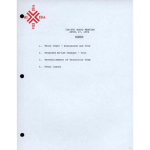 Board of Directors meeting by-law changes, minutes, and notes.