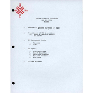 Board of Directors meeting agenda, minutes, and notes.