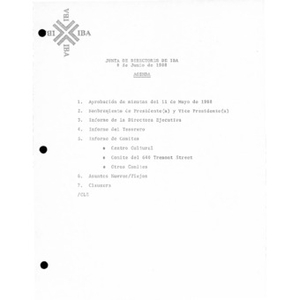 Board of Directors agendas, meeting minutes, and reports.
