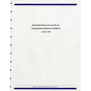 Consolidated financial statements.