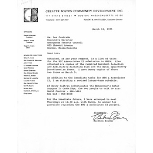 Letter to Luz E. Cuadrado from Barbara Brower.