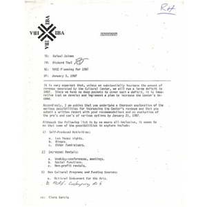 VVCC planning for 1987.