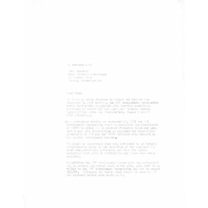 Letter to John A. Sharratt from Victor Feliciano.