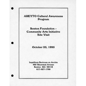 Areyto cultural awareness program