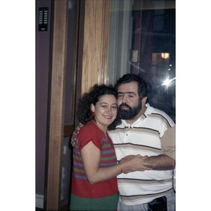Efrain Collado and an unidentified woman.