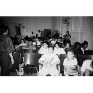 Students in the audience at an Areyto performance.