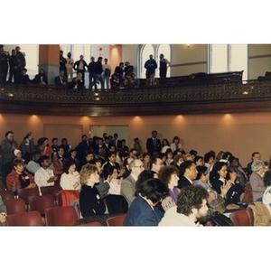 Audience at the opening of the Villa Victoria Cultural Center.