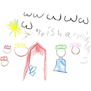 A drawing by MyeishWilliams, for the Three Kings' Day drawing competition.