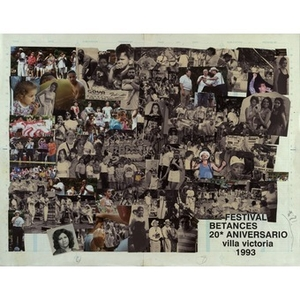 Collage of Festival Betances photographs from 1993.