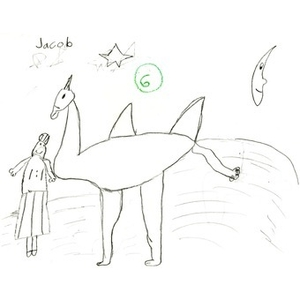 A drawing by Jacob Sutomyer, for the Three Kings' Day drawing competition. Jacob won the 3-6 year old contest.