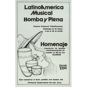 Poster for the Bomba y Plena concert.