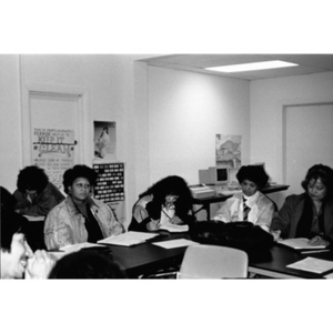 Adult education class organized by Inquilinos Boricuas en Acción's Human Services Department.