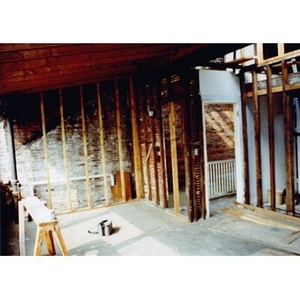 Construction work on the interior of 326 Shawmut Avenue.