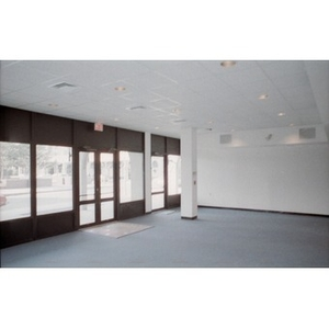 Newly constructed ground floor commercial or retail space that looks out on Plaza Betances.