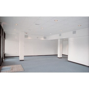 Interior of newly constructed commercial space that is ready for occupancy.