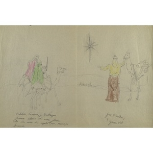 A drawing by Jose (Aponta), for the Three Kings' Day drawing competition.