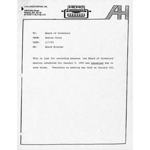 Board of Directors meeting minutes for 1993.