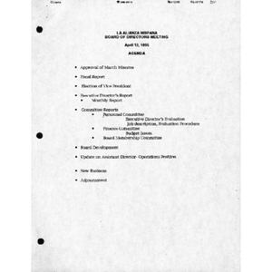 Meeting materials for April 1995.