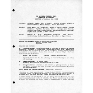Meeting materials for October 1995.