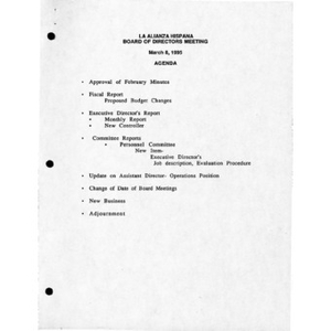 Meeting materials for March 1995.