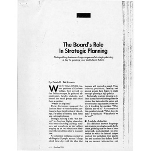 The board's role in strategic planning.