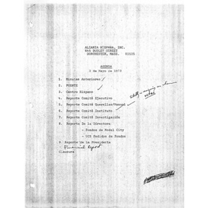 Meeting materials for May 2, 1973.