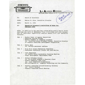 February 1996 reports to the Board.