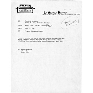 May 1996 reports to the Board.