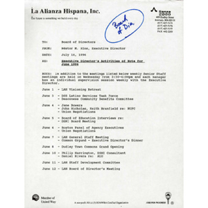 June 1996 reports to the Board.