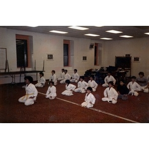 Karate class for Latino children, sponsored by La Alianza Hispana.