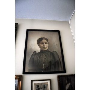 Portrait of a woman on Reverend Chauncy Moore's wall.