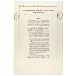 The Civil Rights Act of 1964.