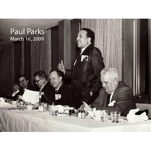 An Interview with Paul Parks, March 16, 2009 [sound recording]