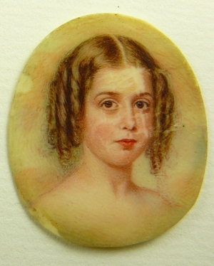 Miniature portrait of Mary Louisa Bowen