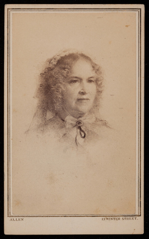 Reproduction of a Samuel Rowse cray-pas drawing, Boston, Mass., ca. 1863-1865