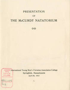 McCurdy Natatorium Dedication Program, 1913