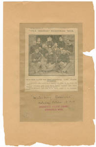 World's Very First Basketball Team, Waterbury American article, 1913