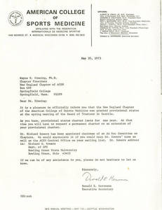 Letter from Donald Herrman to Wayne Sinning (May 30, 1973)