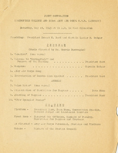 Commencement Program (May 1943)